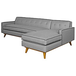Kyle Schuneman for Apt2B Clinton 2-Piece Right Arm Facing Sectional in Grey
