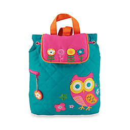 Stephen Joseph® Owl Quilted Backpack in Turquoise