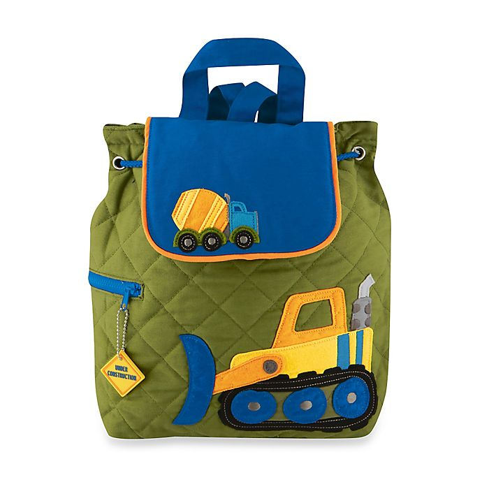 Alternate image 1 for Stephen Joseph® Construction Quilted Backpack in Green