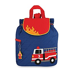 Stephen Joseph® Fire Truck Quilted Backpack in Blue
