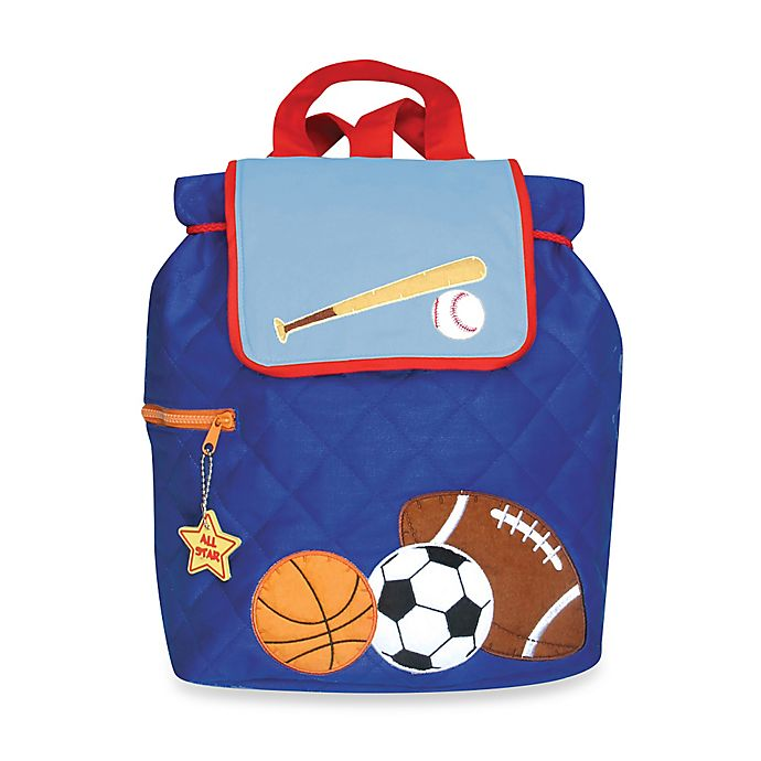 Alternate image 1 for Stephen Joseph® Sports Quilted Backpack in Blue