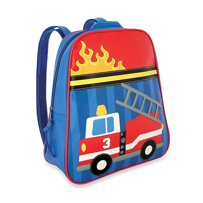 Alternate image 1 for Stephen Joseph® Fire Truck Go Go Backpack in Blue/Red