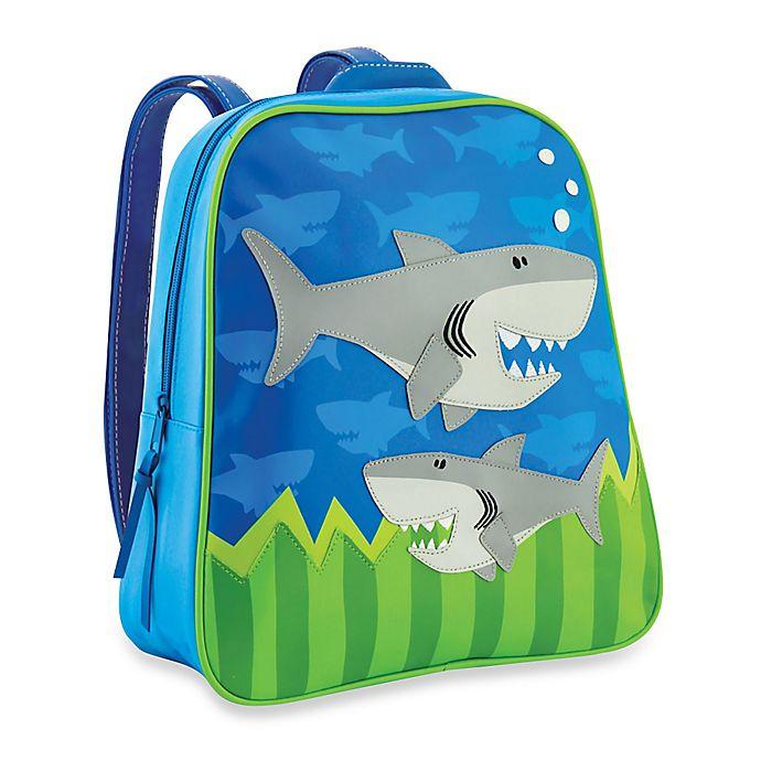 Alternate image 1 for Stephen Joseph® Shark Go Go Backpack in Blue/Green