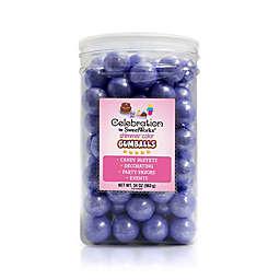 Celebration by SweetWorks® Shimmer™ Gumballs Party Jar in Lavender