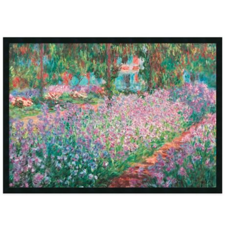 Claude Monet Le Jardin De Monet A Giverny Framed Art Print Bed