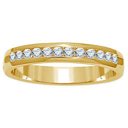 14K Yellow Gold Channel-Set Diamond Ladies' Wedding Band Collection