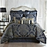 Part of the Waterford® Linens Vaughn Reversible Comforter Set in Navy/Gold