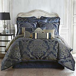 Waterford® Linens Vaughn Reversible Comforter Set in Navy/Gold