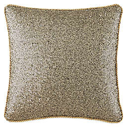 Waterford® Linens Vaughn Sequin Square Throw Pillow in Gold