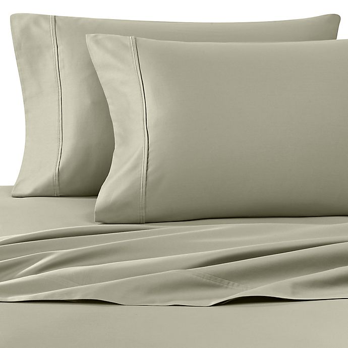Alternate image 1 for Wamsutta® 400 Thread Count Super King Sheet Set in Sage