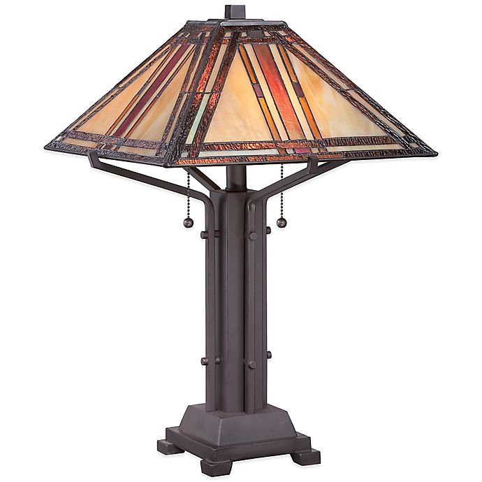 Alternate image 1 for Quoizel Tiffany Revere Table Lamp in Western Bronze