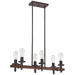 Quoizel® Tavern 6-Light Island Chandelier in Darkest Bronze