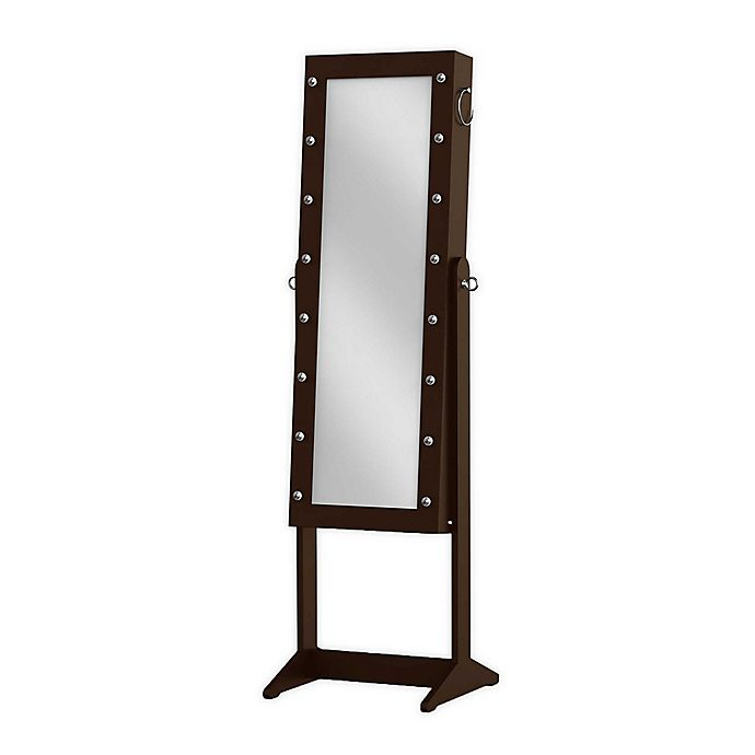 Alternate image 1 for Prinz Marquee Freestanding Jewelry Cabinet with Mirror