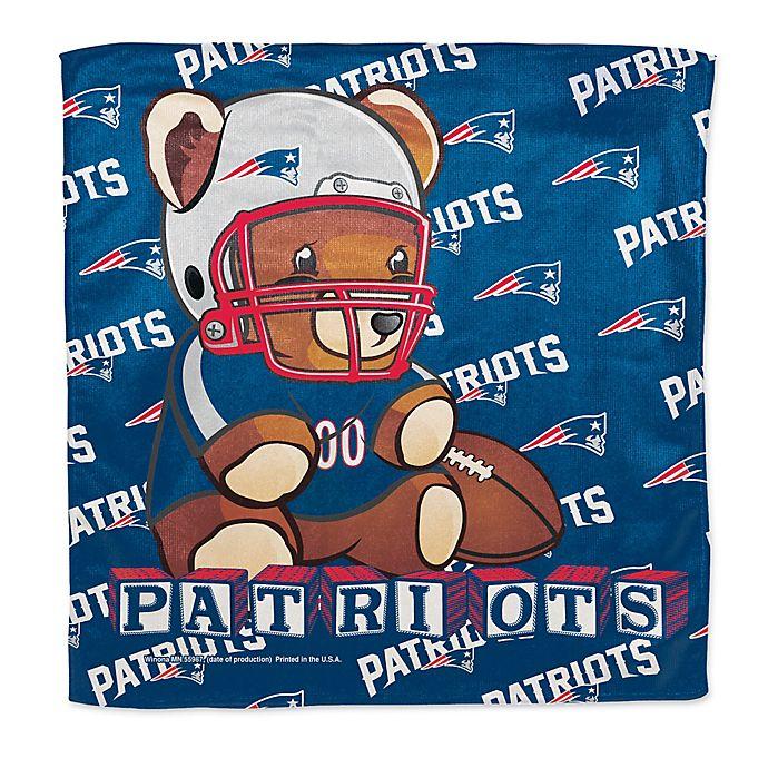 Alternate image 1 for NFL New England Patriots Littlest Fan Burp Cloth