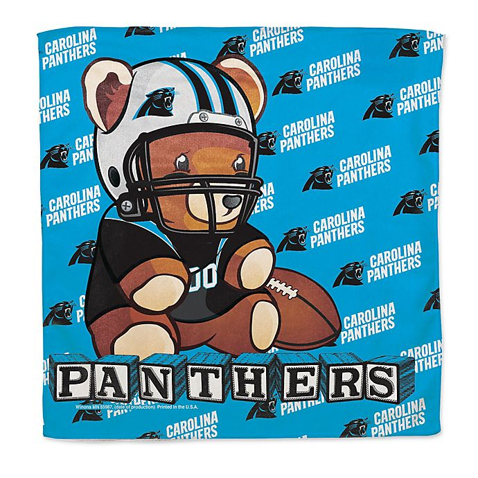 Alternate image 1 for NFL Carolina Panthers Littlest Fan Burp Cloth