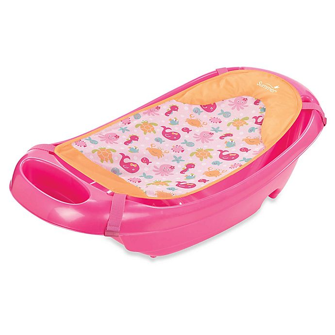 Alternate image 1 for Summer Infant® Splish 'n Splash Newborn to Toddler Bath Tub in Pink