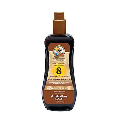 Australian Gold® 8 oz. Spray Gel Sunscreen with Instant Bronzer SPF 8
