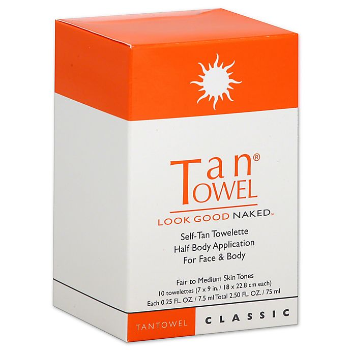 TanTowel Look Good Naked Full Body 4 Pack Self Tanning