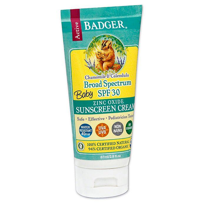 Alternate image 1 for Badger® Baby 2.9 oz. Broad Spectrum Zinc Oxide Sunscreen Cream SPF 30