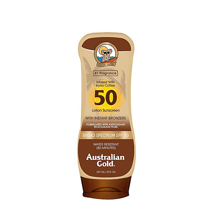Alternate image 1 for Australian Gold® 8 oz. Sunscreen Lotion with Bronzers SPF 50