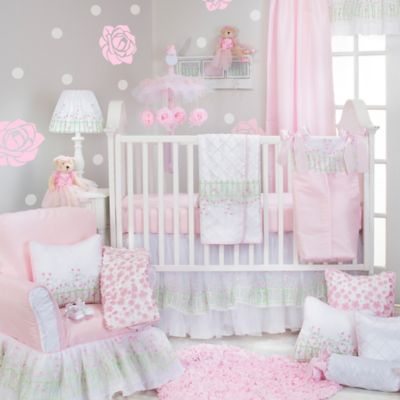 Glenna Jean Secret Garden 3 Piece Crib Bedding Set