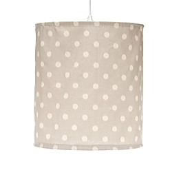 Glenna Jean Harper Hanging Dot Drum Shade Kit in Grey/Cream