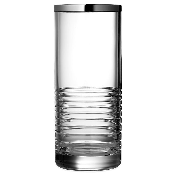 Alternate image 1 for Vera Wang Wedgwood® Grosgrain Nouveau Platinum 10-Inch Vase
