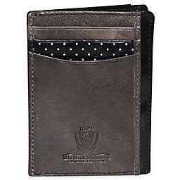 Dopp Alpha RFID-Blocking Leather Front Pocket Get-Away Wallet in Black