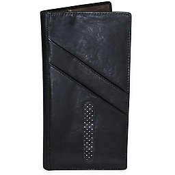 Dopp Alpha RFID-Blocking Leather Passport Travel Wallet in Black