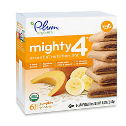 Plum Organics® Tots Mighty 4™ 6-Pack Pumpkin Banana Essential Nutrition Bar
