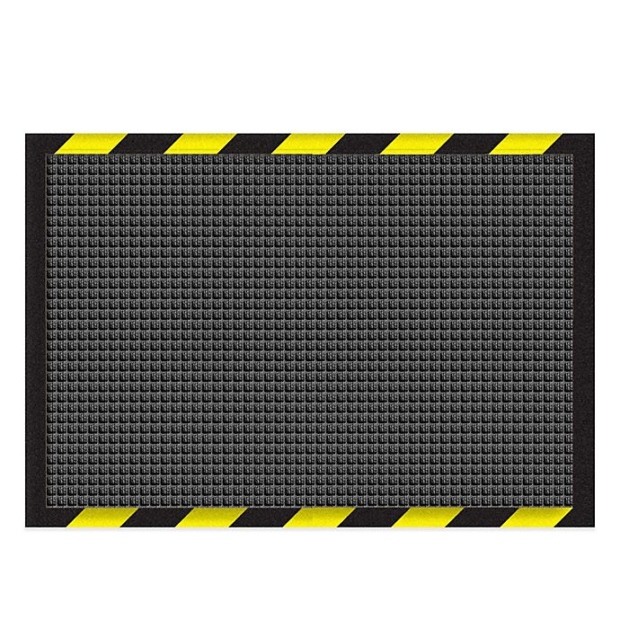 Alternate image 1 for Weather Guard™ Garage Mat in Charcoal with Striped Border