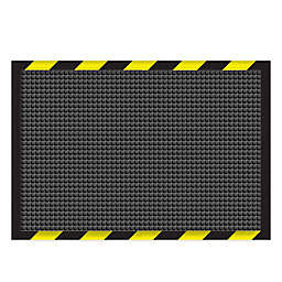 Weather Guard™ Garage Mat in Charcoal with Striped Border