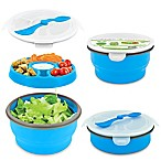 SmartPlanet Eco Collapsible Salad Bowl Deluxe Meal Kit in Blue