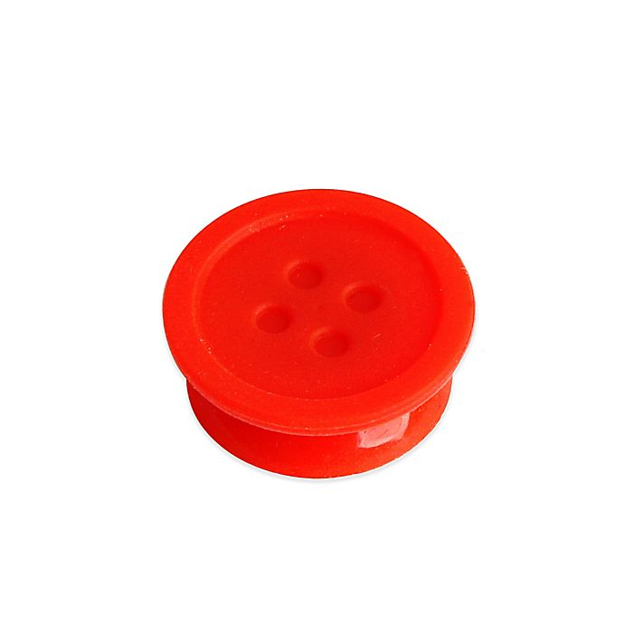 Alternate image 1 for Kikkerland® Silicone Tea Buttons in Red (Set of 6)