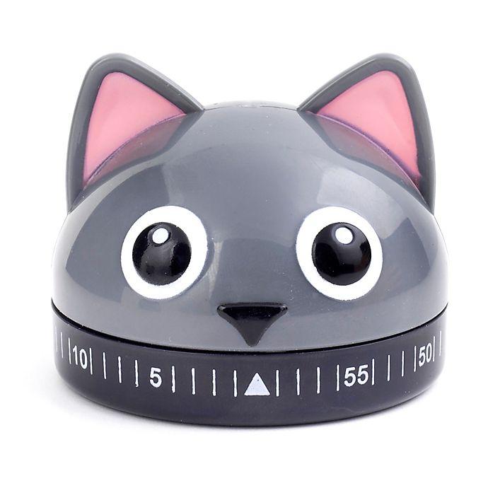 Alternate image 1 for Kikkerland® Cat Kitchen Timer in Grey