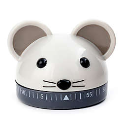 Kikkerland® Mouse Kitchen Timer in Grey