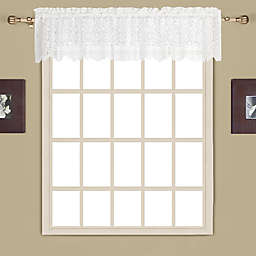 New Rochelle Lace Scallped Valance in White