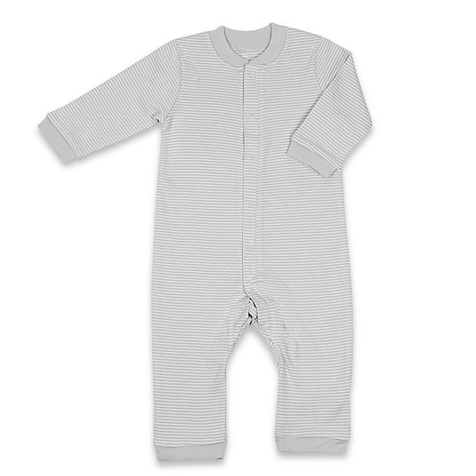 Alternate image 1 for Tadpoles™ by Sleeping Partners Organic Cotton Footless Snap-Front Romper in Grey