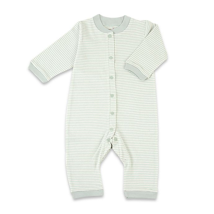 Alternate image 1 for Tadpoles™ by Sleeping Partners Organic Cotton Footless Snap-Front Romper in Sage