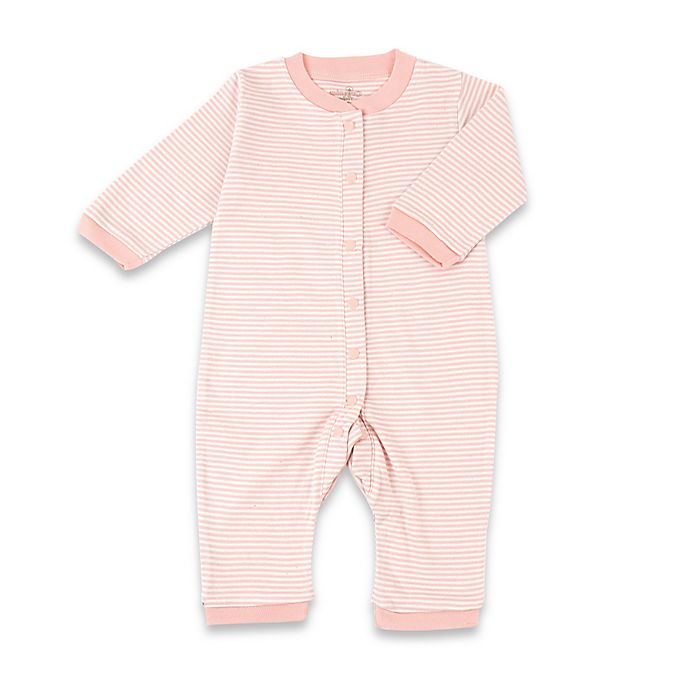 Alternate image 1 for Tadpoles™ by Sleeping Partners Organic Cotton Footless Snap-Front Romper in Coral