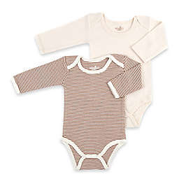 Tadpoles™ by Sleeping Partners 2-Pack Organic Cotton Bodysuits in Cocoa