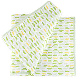 Tadpoles™ by Sleeping Partners Mod Zoo Receiving Blanket in Green Gator