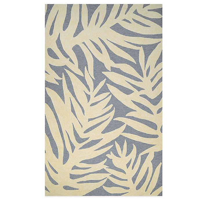 Alternate image 1 for Couristan Covington Collection Palms 3-Foot 6-Inch x 5-Foot 6-Inch Rug in Azure
