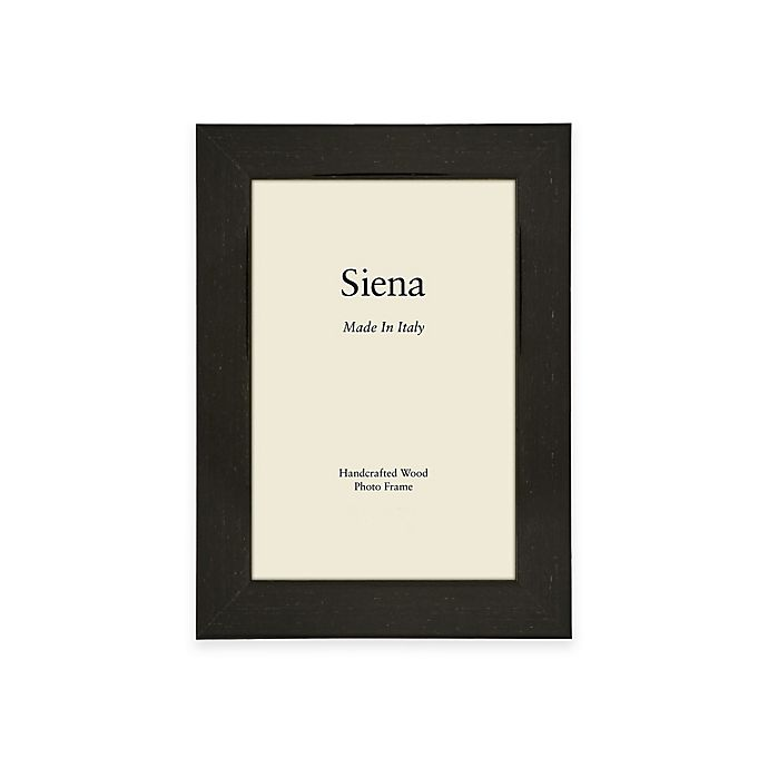Alternate image 1 for Siena Italian 5-Inch x 7-Inch Polished Wood Picture Frame in Black