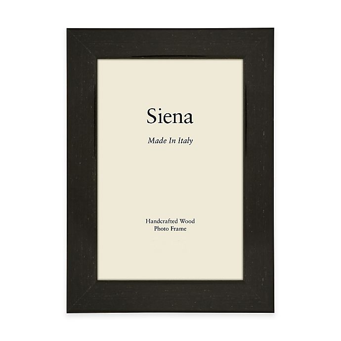Alternate image 1 for Siena Italian 8-Inch x 10-Inch Polished Wood Picture Frame in Black