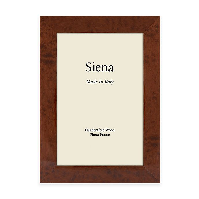 Alternate image 1 for Siena Italian 8-Inch x 10-Inch Burl Wood Picture Frame in Brown