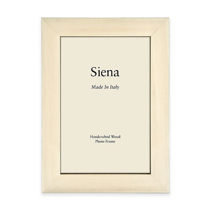 Alternate image 1 for Siena Italian 8-Inch x 10-Inch Polished Wood Picture Frame in White