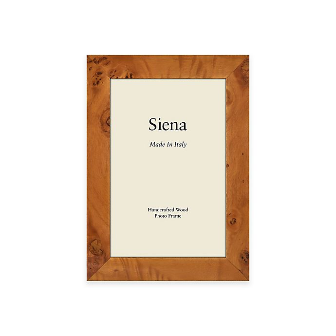 Alternate image 1 for Siena Italian 5-Inch x 7-Inch Polished Wood Picture Frame in Honey