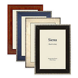 Siena Italian Inlaid 4-Inch x 6-Inch Polished Wood Picture Frame