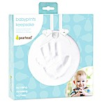 Pearhead Sidecap 6-Inch x 6-Inch Babyprints Year Round Keepsake in White